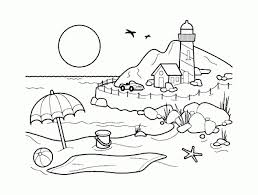 beach landscape coloring pages beach scene coloring pages 5806