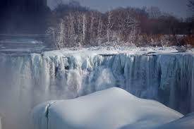 niagara river tumbling horseshoe falls frozen