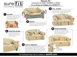 sure fit chair slipcover sure fit slipcovers view details a stretch galaxy fit slipcovers