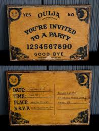 ouija board party invitation chica and jo