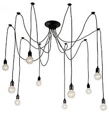 Chandeliers Ls Light Society 10 Light Chandelier Swag Pendant Matte