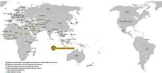 Indonesia World Map by Map Of Cooperation Universitas Indonesia