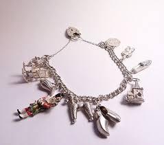 solid silver charm bracelet images Charm bracelets the vintage compact shop png