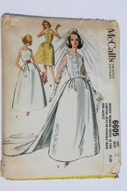 vintage wedding dress patterns 60s vintage wedding dress pattern mccall s sewing pattern for