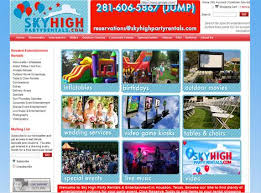 Houston Party Rentals Sky High Party Rentals U0026 Houston Moonwalks Humble Tx Video