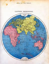 Eastern Hemisphere Map Vintage Printable Map Of The World Part 2 The Graphics Fairy