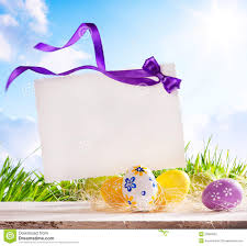 easter greeting cards easter greeting card with easter eggs stock image image of