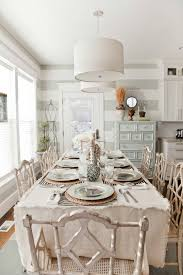 shabby chic dining table and bench shabby chic dining room ideas