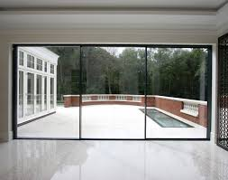 door sliding glass pocket door amazing 3 panel sliding glass