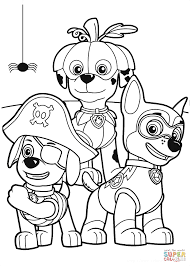 Halloween Coloring Pages Online by Paw Patrol Halloween Party Coloring Page Free Printable Coloring