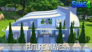 the sims 4 house building future waves youtube