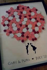 bridal shower guest book alternatives alternative wedding guest book balloon guestbook shadow