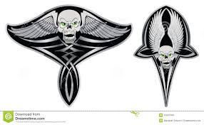 skull tattoo images free tribal skull set for tattoo royalty free stock images image