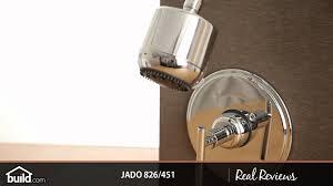 jado 826 451 single handle pressure balanced shower trim youtube