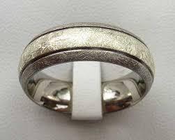 titanium wedding rings uk wire brushed gold inlaid titanium wedding ring online in the uk