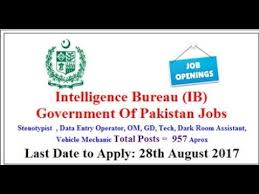 government bureau intelligence bureau government of pakistan 2017