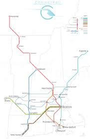 Boston Rail Map by Commonrail U2014 Cyrus Dahmubed Iqubed Design