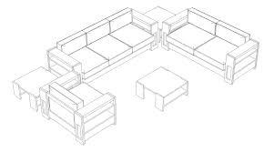 Sofa Drawing 3d model sofa suite cgtrader