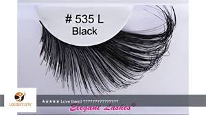 elegant lashes 535l thick long black human hair false eyelashes