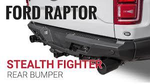 Ford Raptor Bumpers - 2017 ford raptor stealth fighter rear bumper u2013 add offroad youtube