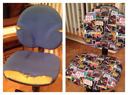 my friend u0027s sister reupholstered this office chair and made it