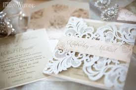 laser cut wedding invitations laser cut wedding invitation with custom belly band and envelope
