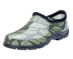 Black Comfort Shoes Women Sloggers Made In The Usa Rain U0026 Garden Shoe For Women In Leaf