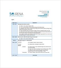 Press Conference Template 8 conference agenda templates free sle exle format