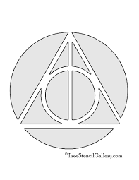 Halloween Stencils Printable by Harry Potter Deathly Hallows Symbol Free Stencil Gallery