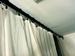 How To Hang Sheer Curtains With Drapes Decorations Pottery Barn Curtain Hardware Potterybarn Drapes