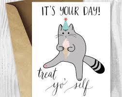 cat birthday card printable it s my birthday i do