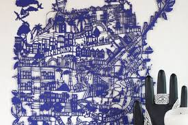 San Francisco City Map by Here U0027s A Laser Cut Painstakingly Created Lace Doily Style Map Of
