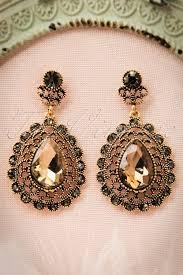 20 s earrings 20s brown drop earrings