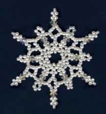 the 25 best beaded snowflake ideas on crafts with