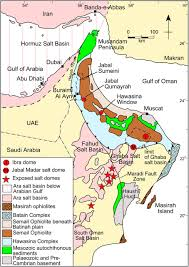 Map Of Oman Structure Of The Northern Oman Mountains From The Semail Ophiolite
