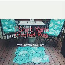 Crochet Tshirt Rug Pattern T Shirt Yarn Crochet Rug Free Pattern Free Crochet Rug Made