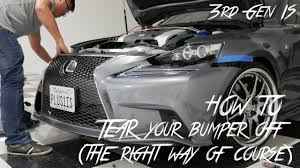 lexus logo front license plate how to remove the front bumper on lexus 2014 2015 2016 is350 is250