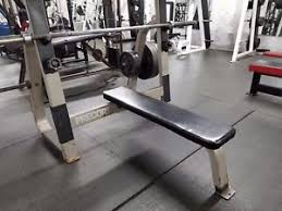 Olympic Bench Set With Weights Olympic Bench Press With Safety Rack Ebay