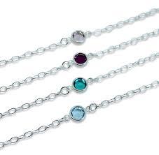 birthstone bracelet for sterling silver swarovski birthstone bracelet by by
