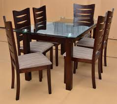 Mediterranean Dining Room Furniture by Dining Table Designs In Wood And Glass Custom Home Design