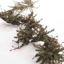 pip berry and artificial pine twig garland garlands