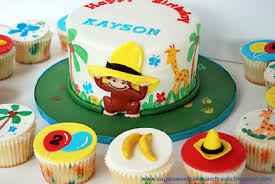 curious george birthday cake a painted curious george cake sugar sweet cakes and treats
