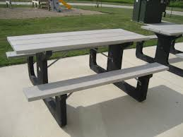 Recycled Plastic Patio Furniture Garden Bench Plastic Wood Furniture Picnic Bench White Plastic