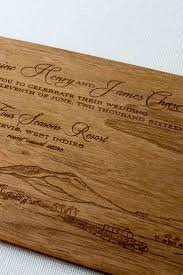engraved wood wedding invitations gourmet invitations