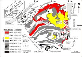 Adirondack Mountains Map Megacrystic Gore Mountain U2013type Garnets In The Adirondack Highlands