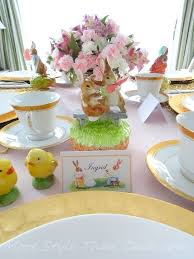 Pink And Gold Table Setting by Easter Table Setting