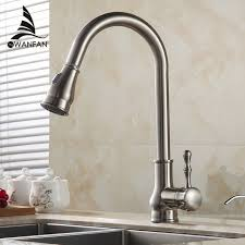 Buy Kitchen Faucet Aliexpress Buy Kitchen Faucet Brass Brushed Nickel High Arch