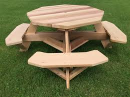 Wooden Hexagon Picnic Table Plans by 49
