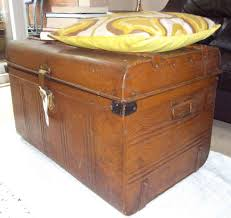 Coffee Tables With Storage by Antique Vintage Tin Trunk Chest Coffee Table Blanket Storage