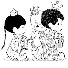 three kings precious moments coloring pages coloring page
